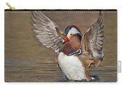 Mandarin Duck Flapping Away Carry-all Pouch