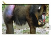 Mandrill Mandrillus Sphinx Eating Fruit Carry-all Pouch