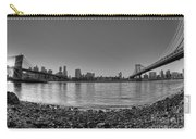 Manhattan And Brooklyn Bridge Fisheye Bw Carry-all Pouch