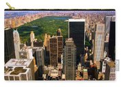 Manhattan And Central Park Carry-all Pouch by Monique Wegmueller