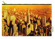 Manhattan And Chrysler Building Carry-all Pouch