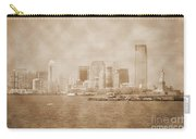 Manhattan And Liberty Island Vintage Carry-all Pouch
