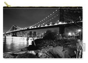 Manhattan Bridge Black And White Carry-all Pouch