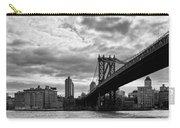 Manhattan Bridge In Bw Carry-all Pouch