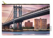 Manhattan Bridge Under A Purple Sunset Carry-all Pouch