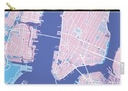 Manhattan Map Graphic Carry-all Pouch