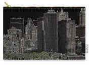 Manhattan Skyline Abstract Carry-all Pouch