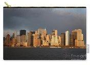 Manhattan Skyline At Sunset Carry-all Pouch