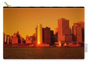 Manhattan Skyline At Sunset Carry-all Pouch