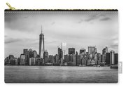 Manhattan Skyline Black And White Carry-all Pouch