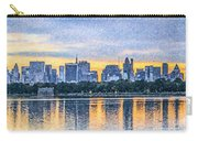 Manhattan Skyline From Central Park Reservoir Nyc Usa Carry-all Pouch
