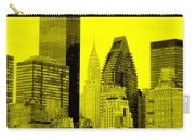 Manhattan Skyline In Yellow Carry-all Pouch