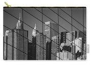 Manhattan Through The Brooklyn Bridge Carry-all Pouch