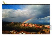 Spanish Landscape Rainbow And Ocean View Carry-all Pouch