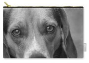 Man's Best Friend In Black And White Carry-all Pouch