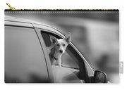 Mans Best Friend Riding Shotgun Carry-all Pouch by Bob Orsillo