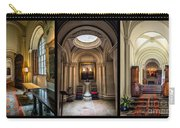 Mansion Hallway Triptych Carry-all Pouch by Adrian Evans