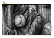 Many Baseballs In Black And White Carry-all Pouch