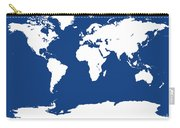 Map In Blue And White Carry-all Pouch