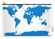 Map In Blue Carry-all Pouch