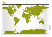 Map In Olive Green Carry-all Pouch