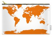 Map In Orange Carry-all Pouch