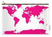 Map In Pink Carry-all Pouch