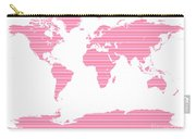 Map In Pink Stripes Carry-all Pouch