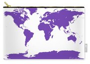 Map In Purple Carry-all Pouch