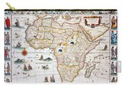 Map Of Africa, 1630 Carry-all Pouch