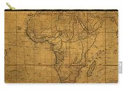 Map Of Africa Circa 1829 On Worn Canvas Carry-all Pouch