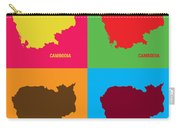 Map Of Cambodia Pop Art Carry-all Pouch