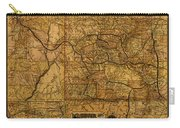 Map Of Denver Rio Grande Railroad System Including New Mexico Circa 1889 Carry-all Pouch