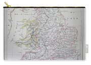 Map Of England Carry-all Pouch