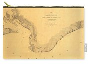 Map Of Galveston Bay 1851 Carry-all Pouch
