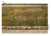 Map Of Houston Texas Circa 1891 On Worn Distressed Canvas Carry-all Pouch