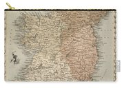 Map Of Ireland Carry-all Pouch by C Montague