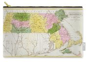 Map Of Massachusetts, From Historical Collections Of Massachusetts, By John Warren Barber, 1839 Carry-all Pouch