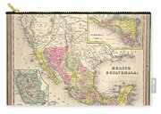 Map Of Mexico Carry-all Pouch by Gary Grayson