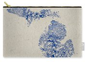 Map Of Michigan Great Lake State Fingerprint Art Carry-all Pouch