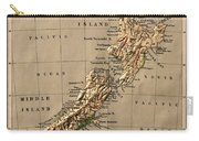 Map Of New Zealand 1880 Carry-all Pouch