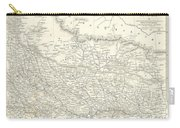 Map Of North India Nepal And Allahabad Carry-all Pouch