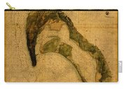 Map Of San Diego Bay California Circa 1857 On Worn Distressed Canvas Parchment Carry-all Pouch