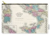 Map Of Southern Italy Sicily Sardinia And Malta Carry-all Pouch