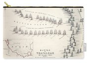 Map Of The Battle Of Trafalgar Carry-all Pouch
