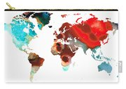 Map Of The World 5 -colorful Abstract Art Carry-all Pouch