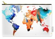Map Of The World 8 -colorful Abstract Art Carry-all Pouch