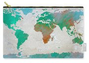 Map Of The World - Colors Of Earth And Water Carry-all Pouch