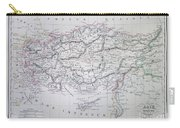 Map Of Turkey Or Asia Minor In Ancient Times Carry-all Pouch