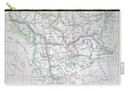 Map Of Turkey Or The Ottoman Empire In Europe Carry-all Pouch